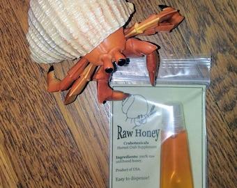 Raw Honey 15ml hermit crab food supplement by Crabotanicals raw unfiltered wildflower pet food