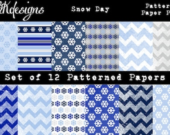 Snow Day Patterned Paper Pack