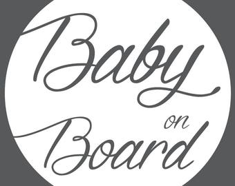 Baby On Board - Circle Curl