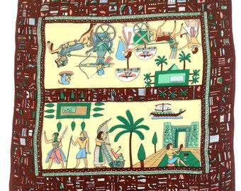 Rare 1920s scarf Egyptian Revival vintage antique