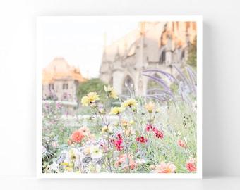 Paris Photography - Autumn Garden at Notre Dame, 5x5 Paris Fine Art Photograph, French Home Decor, Wall Art, Gallery Wall