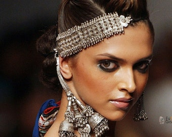 TRIBAL SILVER Jhumka Earrings,Blue and Silver Jhumkas, Earrings Chandelier,Ethnic Indian Jewellery by Taneesi Jewelry YJD145N