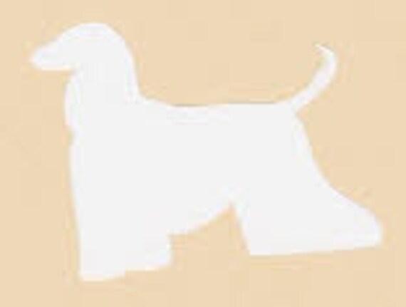 Puppy Bows ~ Afghan Hound dog breed plastic craft stencil