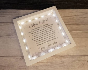 Light Up Wedding Gift Box Frame