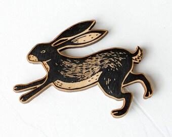 Fridge Magnets - Hare Fridge Magnet - Refrigerator Wood Magnets - Hare Magnets