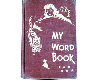 Vintage School Reader - My Word Book - Learn To Read - Vintage Reader - Early Reading
