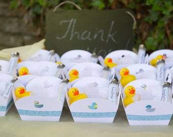Baby Shower / Rubber Duck small favor box (set of 6)