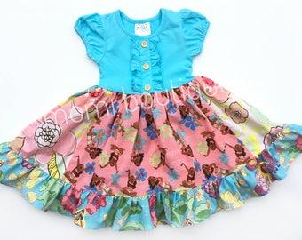 Moana Disney princess dress Moana movie dress Polynesian Resort Momi boutique custom dress