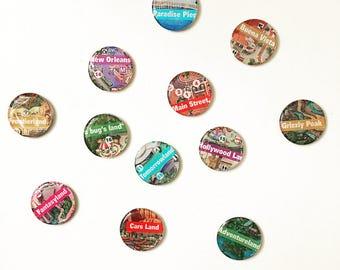 DisneyMaps Magnets SET of 12