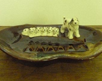 Vintage Spaniel Dog Ashtray or Trinket Holder