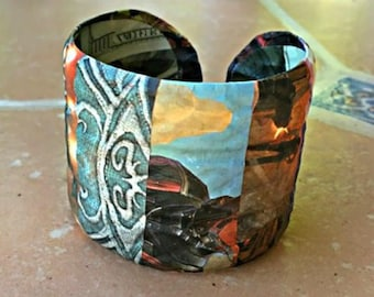 Decoupage Video Game Themed Bracelet