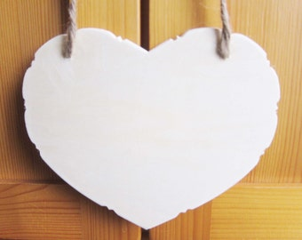 DIY Plain Blank Heart Wood Sign, Kids Craft Supplies, Kids Party Gift, wholesale wood craft, custom sign