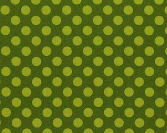 Moss Ta Dot  - HALF YARD - Michael Miller - Cotton Fabric - Quilting Fabric
