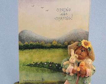 Boyds Bears Frame Miss Hattie & Company Springtime Friends 1E