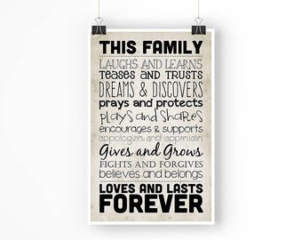 This Family - 11x17 Poster - Instant Download Digital Print