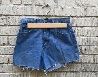 Vintage Jean Shorts. Denim Cut Offs. Medium.