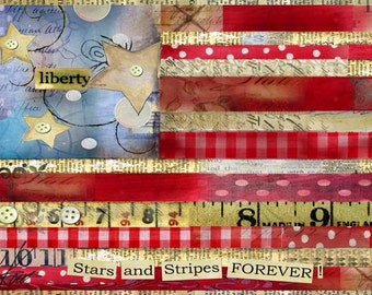 Stars and Stripes Mini Print with Wire