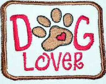 Iron-On Patch - DOG LOVER