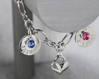 Mother Bracelet, Mother Jewelry, Charm Bracelet for Mom