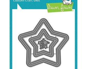 Lawn Fawn - Lawn Cuts - Stitched Star Frames