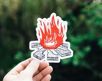 Idaho Campfire Sticker