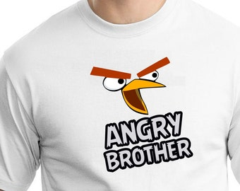 Angry Birds , Iron On Transfer , Angry Birds Brother , Brother Birthday Shirt Design , Angry Birds Printable , Instant Download