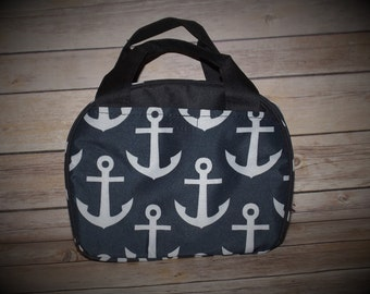 Monogrammed Anchor lunch bag, Personalized Anchor Lunch Bag, lunch box, lunch tote, lunch bag insulated, kids lunch box,  school lunch bag