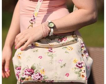 flower bag, wedding bag, We love fairy tales, retro bag, retro handbag, fairies handbag, Victorian handbag, belle epoque handbag