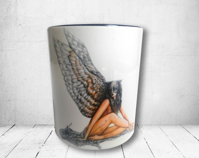 Lady Hawk - 11 oz Ceramic Mug