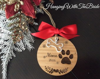 Personalized Dog Ornament, Christmas Gift, Custom name ornament, pets ornament, custom pet ornament, couple wood ornament