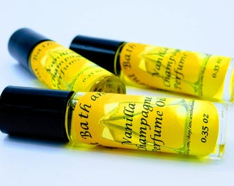 TOP SELLER, Vanilla Champagne Perfume Oil Roll On