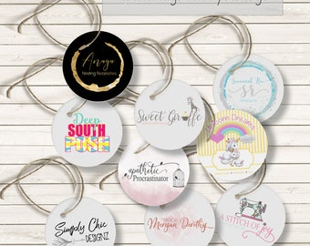Round Tags, Custom Tags, Price Tags, Product Tags, Personalized Tags, Wedding Tags, Circle Tags, Logo Tags, Tags With Holes, Custom Round