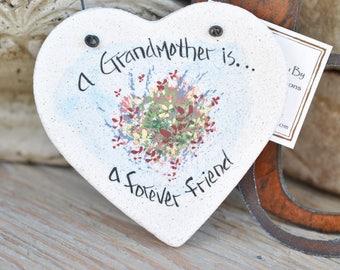 Grandmother Gift Salt Dough Mother's Day / Christmas Gift Ornament