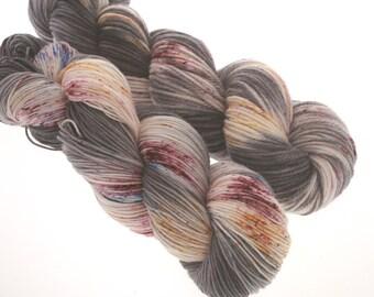 DK and Johnny Sock, Hand Dyed Yarn, Superwash Merino   HURRICANE