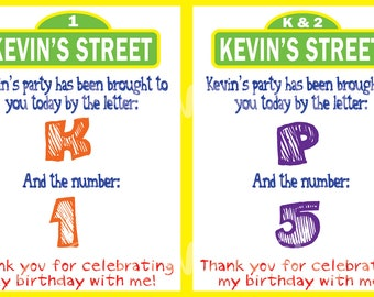 Sesame Street inspired Favor Tag - Custom Digital File