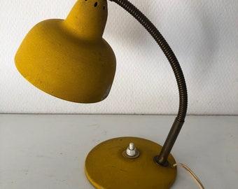Aluminor French orpiment 25cm 1960 vintage desk lamp