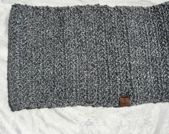 Black and White Cowl Scarf