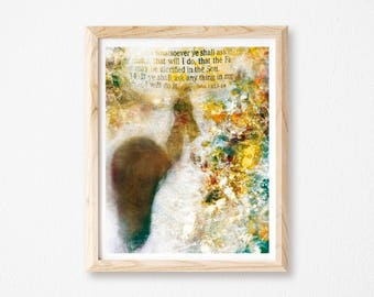 "Prayer Changes Things, Prayer Print, Scripture Art, Scriptures, Bible Verse, Christian Wall Art, Collage Art, Digital Collage, 8"" x 10""."