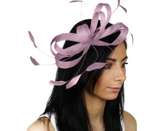 Sinamay Butterfly Lilac Fascinator Hat for Weddings, Races, and Special Events With Headband