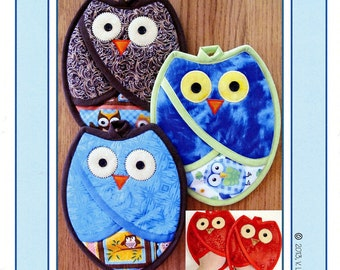 Who Owl Potholder Pattern by Susie C. Shore Designs VL1332