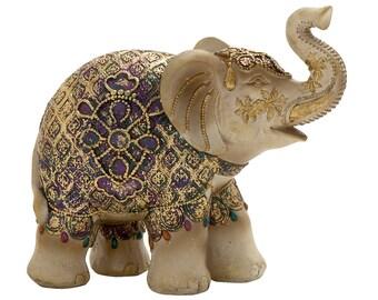 Elephant Decor~Decorative Elephant Figurine~Elephant Sculpture~Bronze Home Decor
