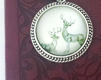 Stag Bookmark// Ribbon Bookmark// Gift for Book Lovers