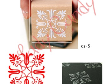 Wooden square pad Special flower lace #4055 Cardmaking embellishments