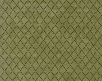 Moda COUNTRY ROAD Quilt Fabric 1/2 Yard By Holly Taylor - Moss Green 6666 13