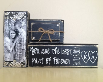 Farmhouse decor, farmhouse sign, personalized wedding gift, bridal shower gift, custom wedding gift, home decor, living room decor, initials
