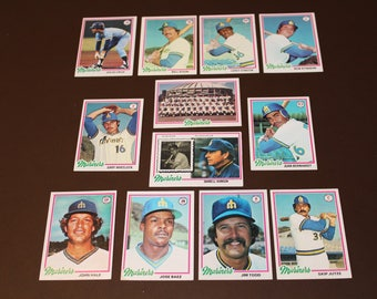 1978 Topps Seattle Mariners 12 Cards Kingdome Team Photo
