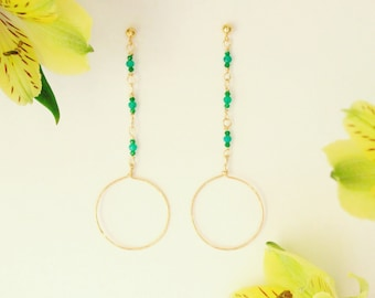 Trendy Onyx Dangle Earrings