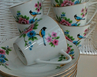6 Vintage Cup and saucer