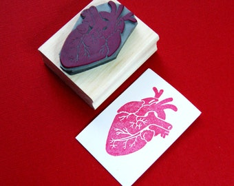 Heart Stamp - Anatomical Heart Stamp by Skull and Cross Buns - Gift for Doctor - Nurse - Wedding Stamp - Alternative Wedding - Valentine
