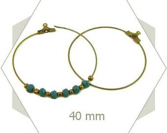 12 Bronze AB85 40mm hoop earrings